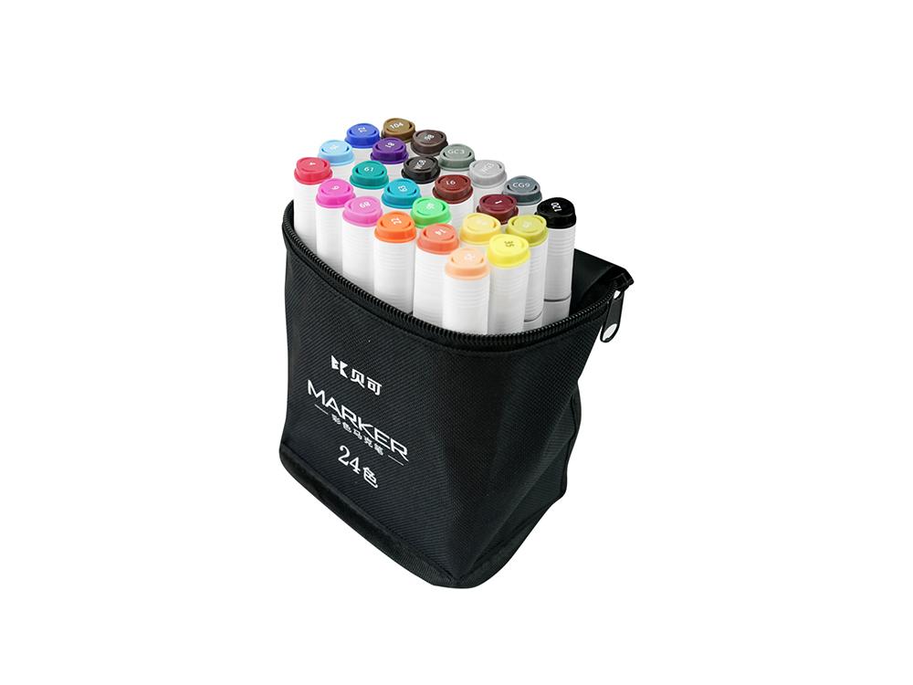 Color bag markers 24 colors