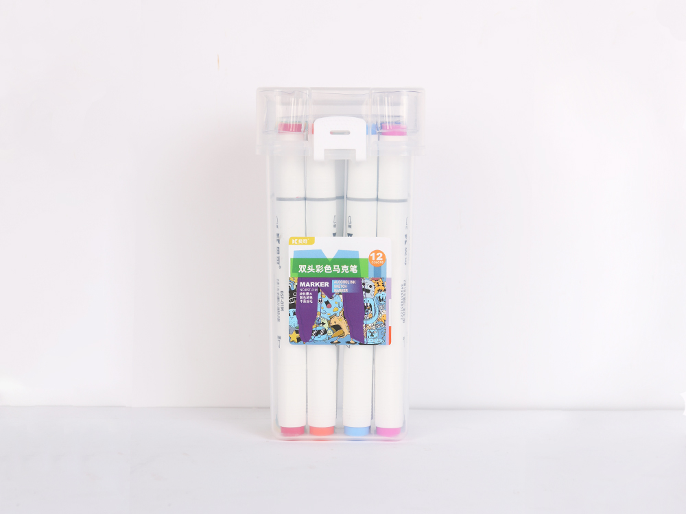 Double-headed color marker 12 colors
